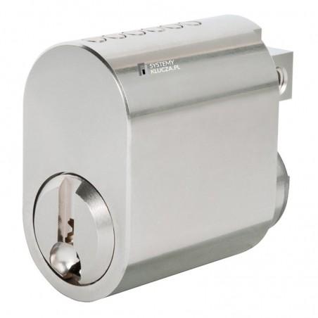 Wkładka elektroniczna AirKey dostęp jednostronny z gałką mechaniczną od wewnątrz