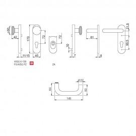 Klamko-Gałka bezpieczna do drzwi technicznych