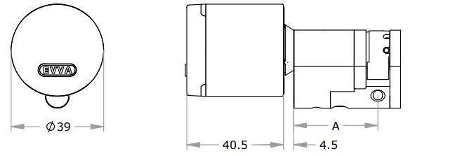 Półwkładka Airkey schemat wymiarowy